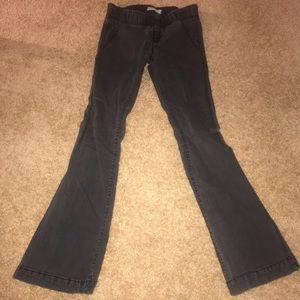 Free People Elastic Flared Jeans I'm Washed Black